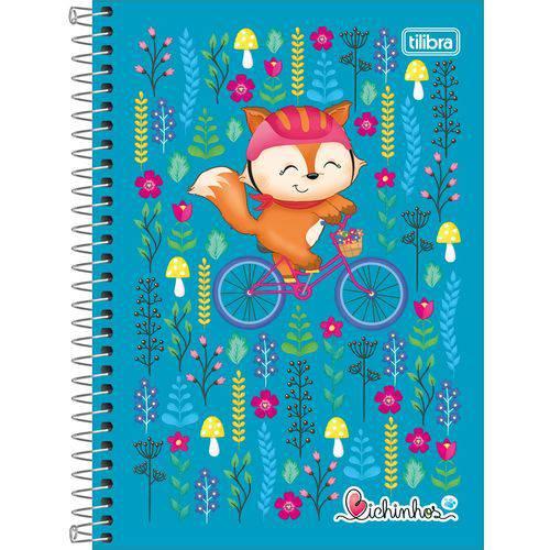 Caderno Universitário Bichinhos Raposa Tilibra 1 Matéria