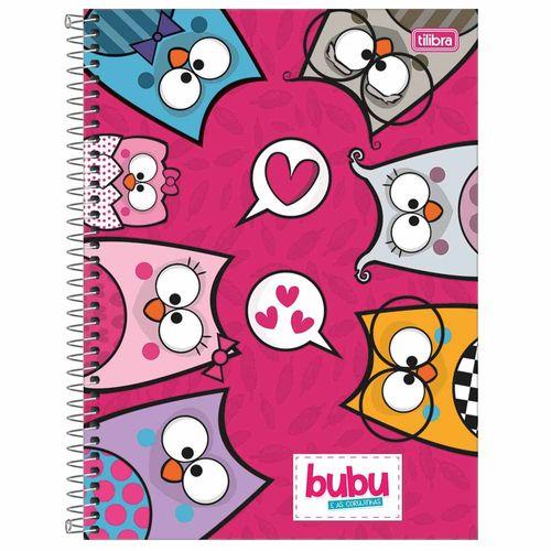 Caderno Universitário Bubu e as Corujinhas 10 Matérias Tilibra 1027391