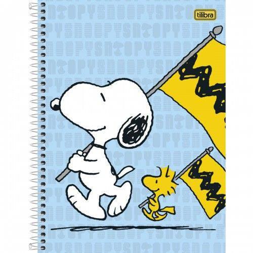 Caderno Universitário Capa Dura 1 Matéria 96 Folhas Snoopy Tilibra