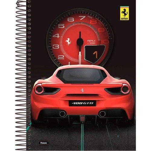 Caderno Universitário Capa Dura 10 Matérias 200 Folhas Ferrari Foroni