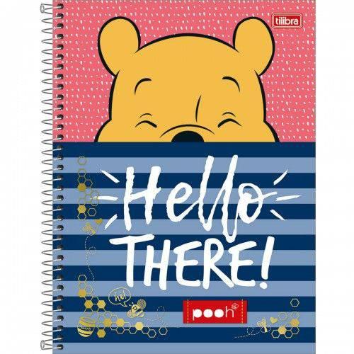 Caderno Universitário Capa Dura 1 Matéria 96 Folhas Pooh Tilibra