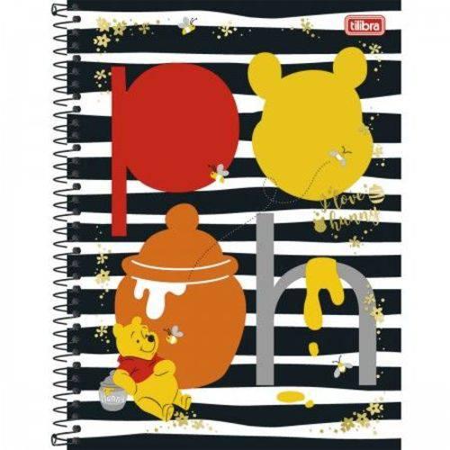 Caderno Universitário Capa Dura 240 Folhas 12 Matérias Tilibra Pooh