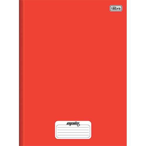 Caderno Universitário com 48 Fls Brochura Capa Dura Mais Tilibra Vermelho. Un