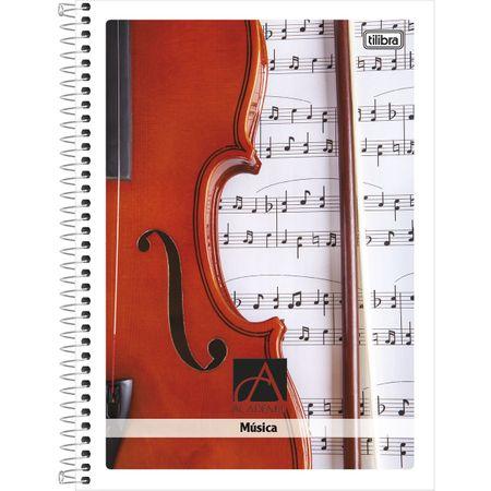 Caderno Universitário de Música Espiral Capa Dura 96 Folhas Académie Tilibra - Estilo 01