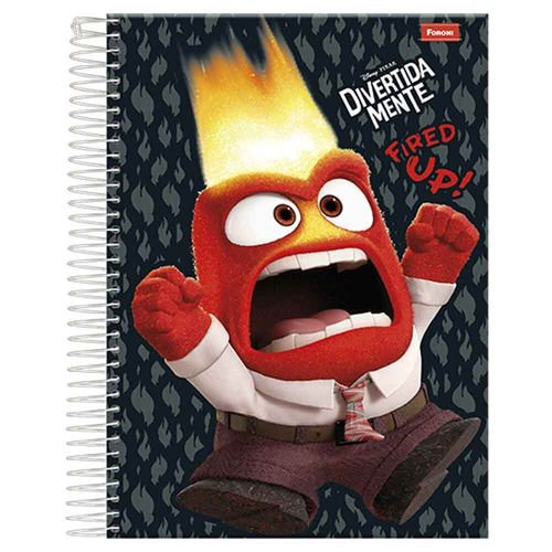 Caderno Universitário Disney Pixar 10 Matérias Foroni 1004078