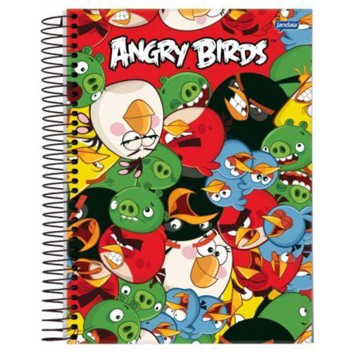 Caderno Universitário Espiral 1X1 96 Folhas Capa Dura Jandaia - Angry Birds 04