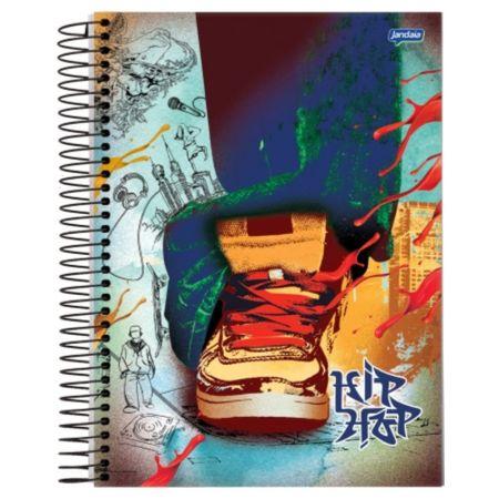 Caderno Universitário Espiral 1X1 96 Folhas Capa Dura Jandaia - Hip Hop 03
