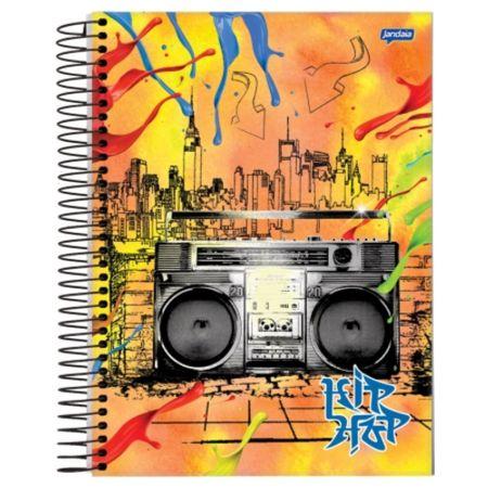 Caderno Universitário Espiral 1X1 96 Folhas Capa Dura Jandaia - Hip Hop 02