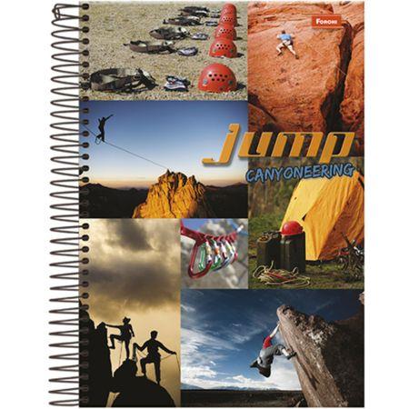 Caderno Universitário Espiral 1X1 96 Folhas Capa Dura Jump Foroni - Canyoneering