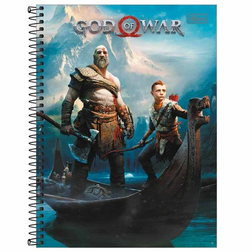 Caderno Universitário God Of War 16 Matérias Tilibra 1019771