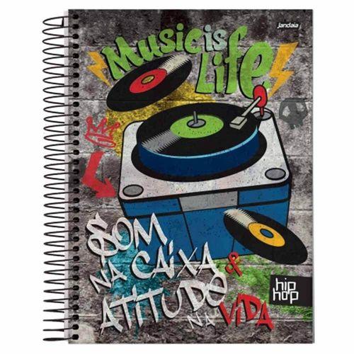 Caderno Universitário Hip Hop 10 Matérias Jandaia 1020338