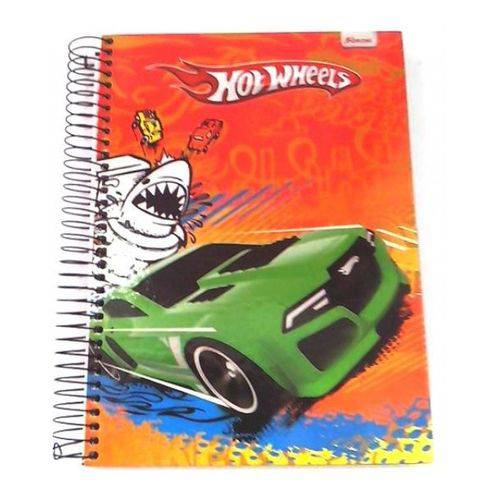 Caderno Universitário Hot Wheels 200 Folhas