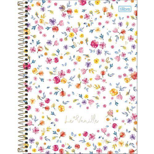 Caderno Universitário Le Vanille Floral Tilibra 1 Matéria