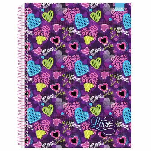 Caderno Universitário Love 10 Matérias São Domingos 1027299