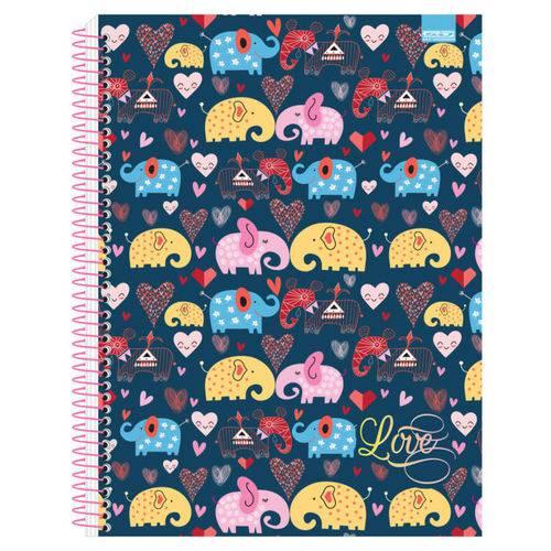 Caderno Universitário Love 10 Matérias São Domingos
