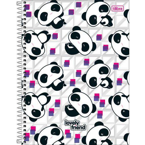 Caderno Universitário Lovely Friend 10 Matérias Tilibra