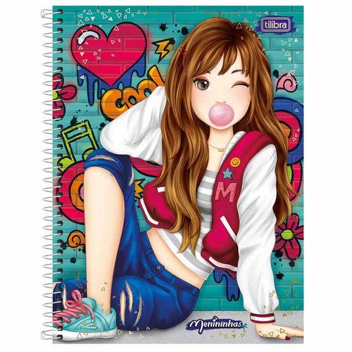 Caderno Universitário Menininhas 10 Matérias Tilibra 240278