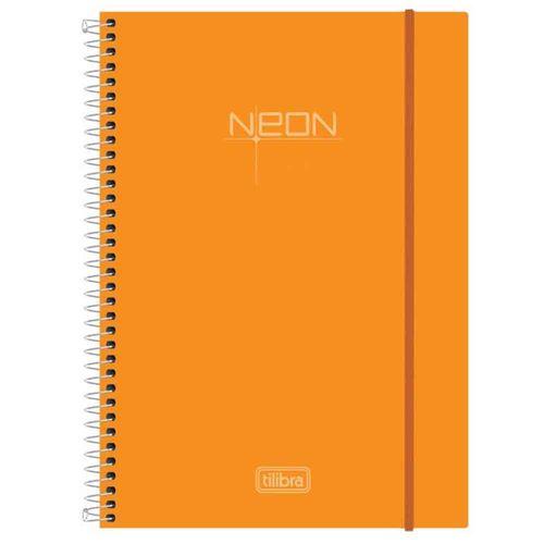 Caderno Universitário Neon Laranja 10 Matérias Tilibra 1021829