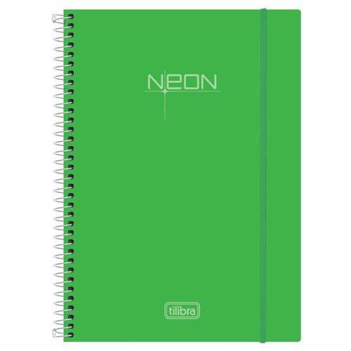Caderno Universitário Neon Verde 10 Matérias Tilibra 1016531