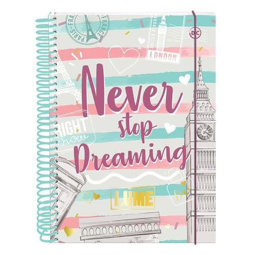 Caderno Universitário Never Stop Dreming 10 Matérias Dac