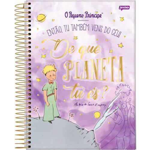 Caderno Universitário o Pequeno Príncipe Roxo 10 Matérias Jandaia