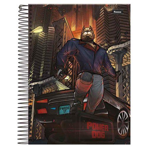 Caderno Universitário Power Dog 15 Matérias Foroni 990423