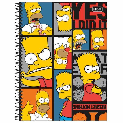 Caderno Universitário Simpsons 10 Matérias Tilibra 1012684
