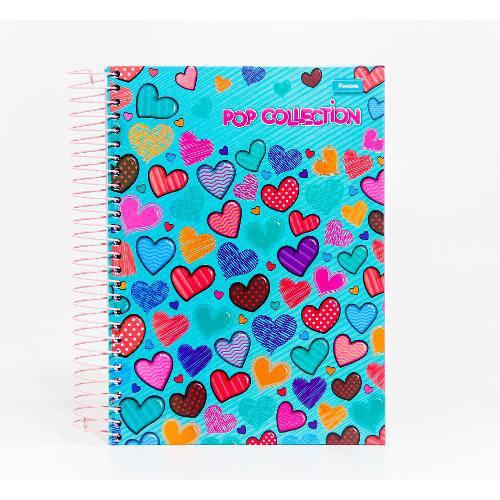 Caderno Universitário Sortido 15 Matérias - Pop Collection