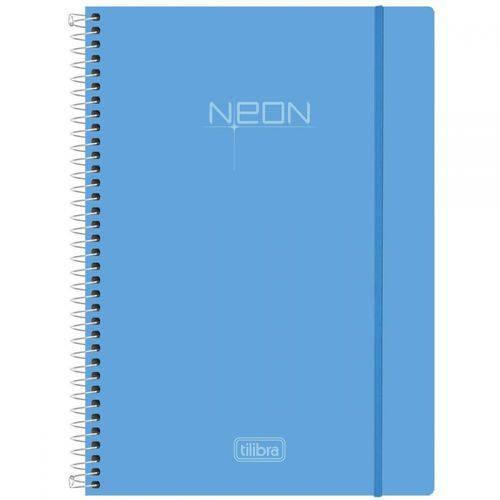Caderno Universitário Tilibra Azul Neon - 200 Folhas
