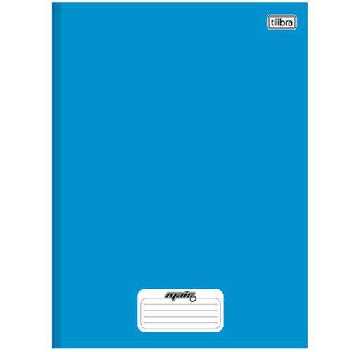 Caderno Universitário Tilibra Mais+ Costurado Cd 096 Fls Azul 116781