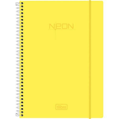 Caderno Universitário Tilibra Neon Amarelo com Capa de Polipropileno - 200 Folhas