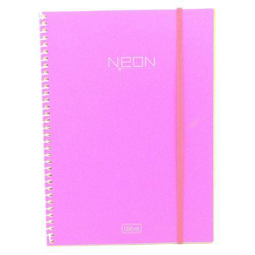Caderno Universitário Tilibra Neon Espiral Cd 096 Fls Rosa 141453