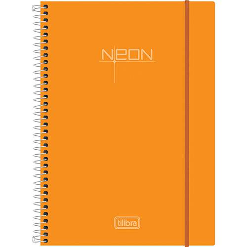 Caderno Universitário Tilibra Neon Laranja com Capa de Polipropileno - 200 Folhas