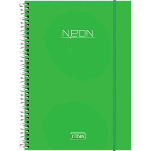 Caderno Universitário Tilibra Neon Verde Capa de Polipropileno - 200 Folhas