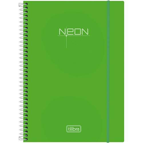 Caderno Universitário Tilibra Neon Verde com Capa de Polipropileno - 200 Folhas