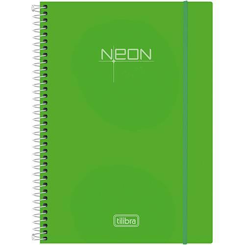 Caderno Universitário Tilibra Neon Verde com Capa de Polipropileno - 96 Folhas