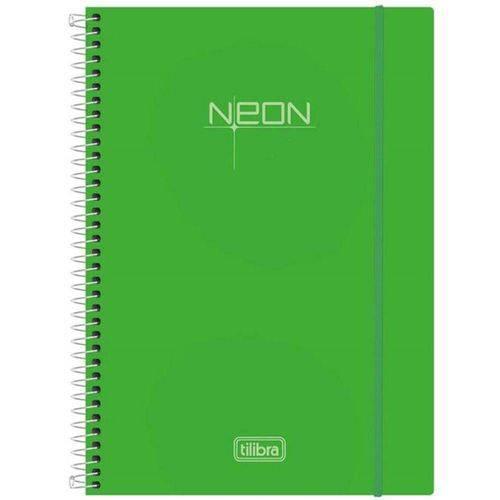 Caderno Univesitario CD 200 Folhas Neon Verde