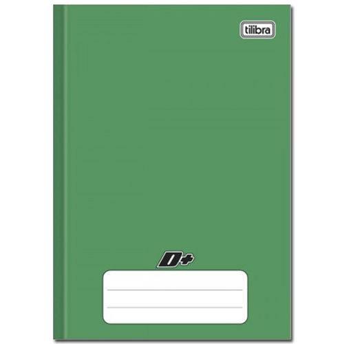 Caderno Verde D ¼ Brochura Capa Dura Costurado 96 Folhas