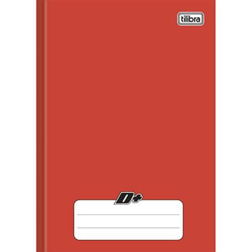 Caderno Vermelho D ¼ Brochura Capa Dura Costurado 48 Folhas