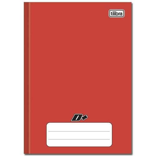 Caderno Vermelho D ¼ Brochura Capa Dura Costurado 96 Folhas