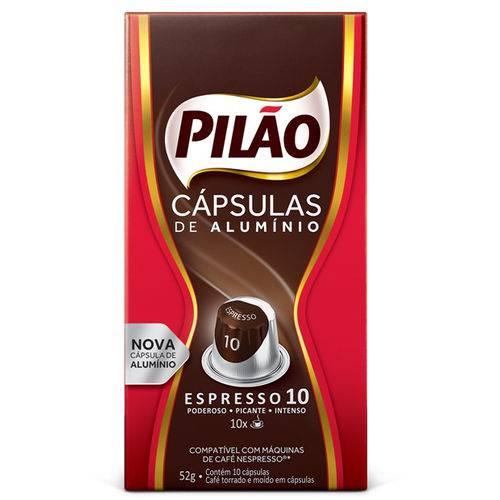 Cafe Capsula Espresso Pilao 10 52GR C/10 Unidades