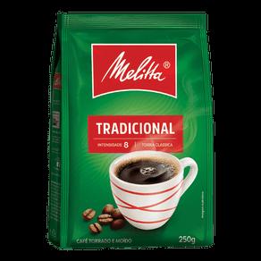 Café Torrado e Moído Melitta Tradicional 250g Pouch