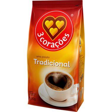 Café Tradicional 3 Corações 500g
