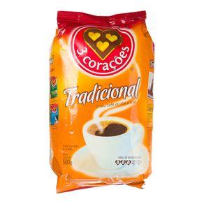 Café Tradicional 3 Corações Pacote 500g