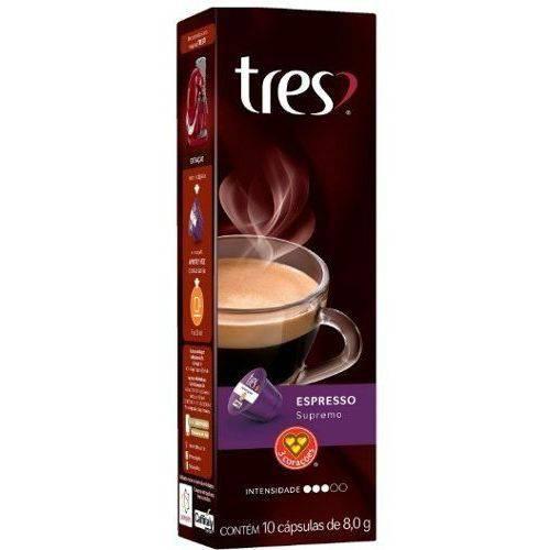 Café Tres 3 Corações Café Espresso SUPREMO Caixa com 10 Cápsulas