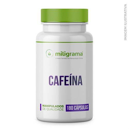 Cafeína 100mg Cápsulas - 180 Cápsulas