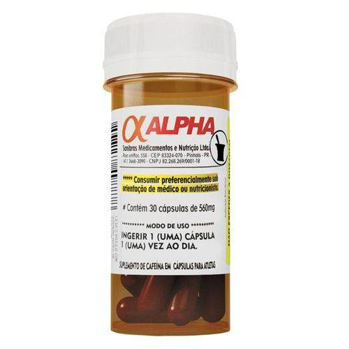 Cafeína Alpha Axcell 30 Cápsulas - Power Supplements