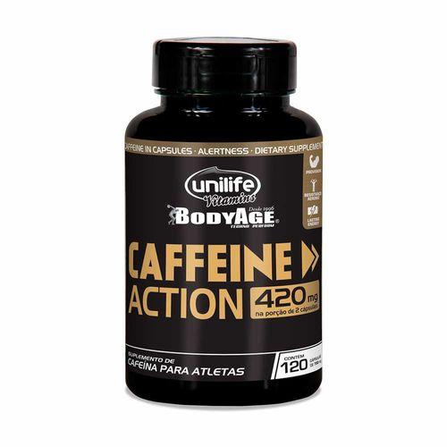 Cafeína Caffeine Action - Unilife - 120 Cápsulas de 700mg