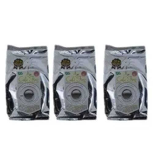 3 Cafés Fino Gourmet Moído Aroma Chocolate 100% Arábica 250g