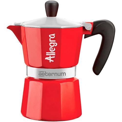 Cafeteira Allegra 3 Xic Vermelha